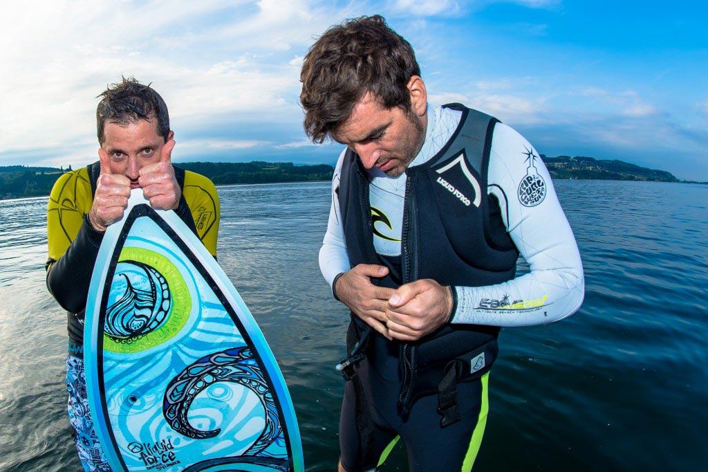 Wakesurfing auf dem Murtensee