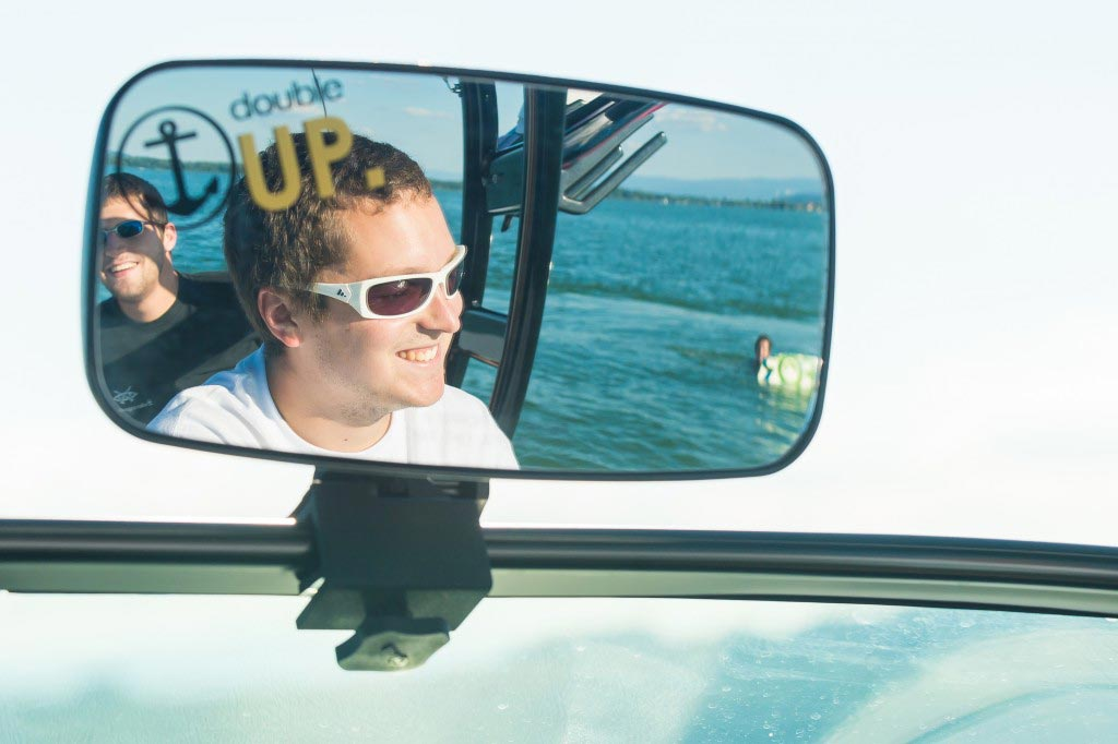 Wakeboard Driver und Coach auf dem Murtensee
