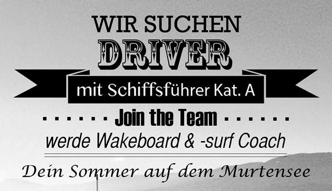 Wir suchen Driver auf dem Murtensee