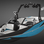Axis Wakeboardboot am Murtensee
